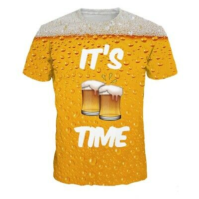 e2384a829 New Fashion Womens/Mens Funny Its Beer Time 3D Print Casual T-Shirt YT497