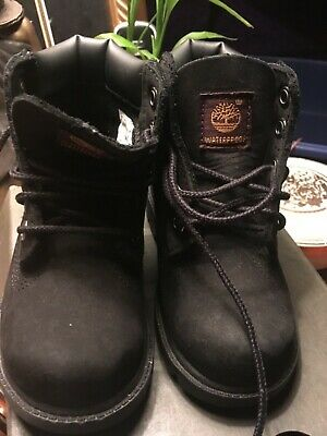 Timberland 6-Inch Boot Toddler Boys Girls Black Nubuck Leather Kids Boots 10810