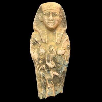 Very Rare Egyptian Hieroglyphic Shabti Fragment, Late Period 664 - 332 Bc (1)
