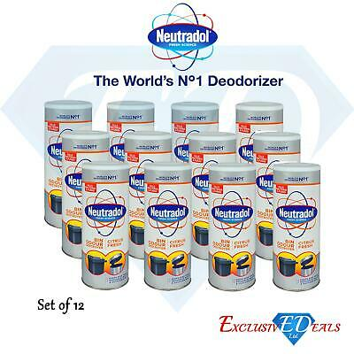 Neutradol Dustbin Kitchen Odour Destroyer Deodoriser Citrus Fresh - 12 x 350g
