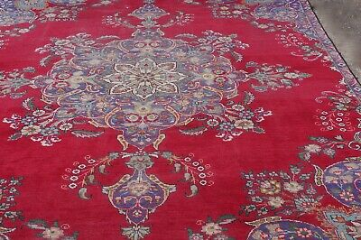 Carpet Rug Antique Persian Wool Hand Made Large - 10ft Long Delivery Available