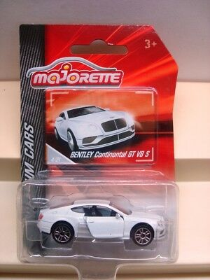 Majorette Bentley Continental GT V8 S In White   MOC