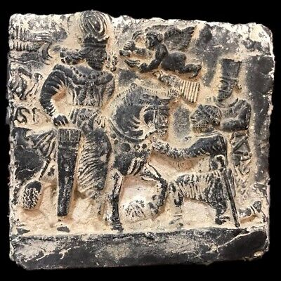 RARE HUGE GANDHARA ANCIENT STONE PICTORIAL PLAQUE 200-400 AD (Large Size) (1)