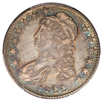 1822 Bust Half O-109 R.3 XF45 PCGS CAC, Better Date, Great Color-From VDB Coins