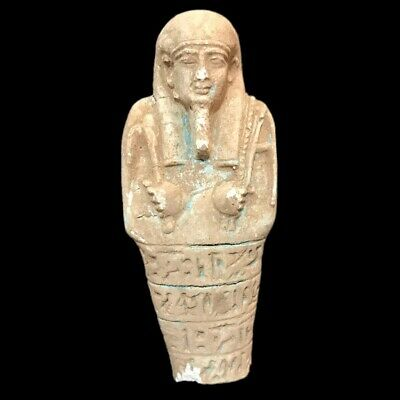 Very Rare Egyptian Hieroglyphic Shabti Fragment, Late Period 664 - 332 Bc (2)