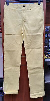 """BODEN JOHNNIE B YELLOW COTTON FLAT FRONT SLIM CHINO TROUSERS W30"""" x L?30"""""""