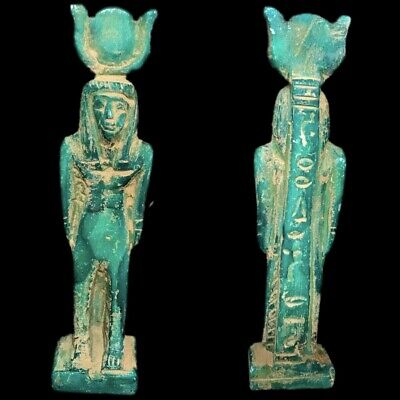 Very Rare Ancient Egyptian Statue Late Period 664 - 332 Bc (2)