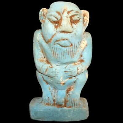 Rare Beautiful Ancient Egyptian Bes Amulet 300 B.c. (3)