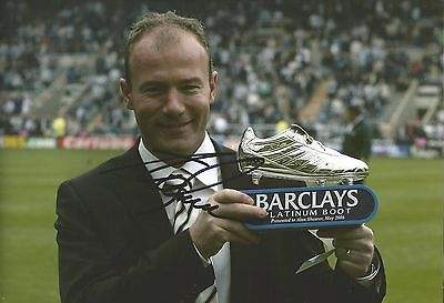 Hand Signed 8x12 photo ALAN SHEARER Newcastle Blackburn ENGLAND Football + COA