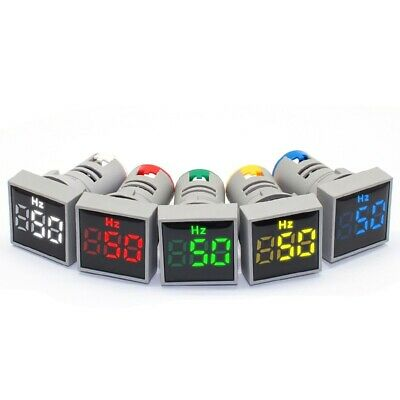 5Pcs 22mm LED Display AC20-500VHertz Digital meter Indicator Light Panel display