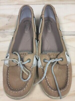 4346cce8c3fa Sperry Top-Sider Women's 9.5 M Angelfish Leather Slip On Boat Shoes 61510
