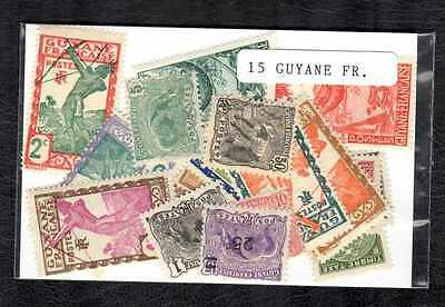 Guyane Française - French Guiana 15 timbres différents