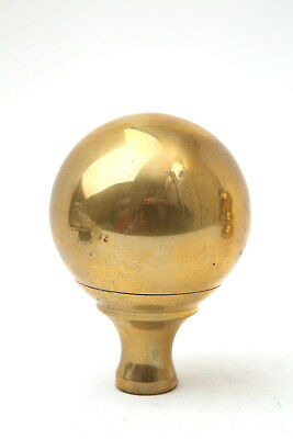 """Victorian Salvaged Reclaimed Circumference 10"""" Height 4"""" Brass Bed Knob Finial"""