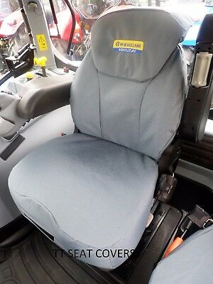 new holland  /cnh,t6000/t7000/t6/t7/tsa grammer seat cover / grey with logo