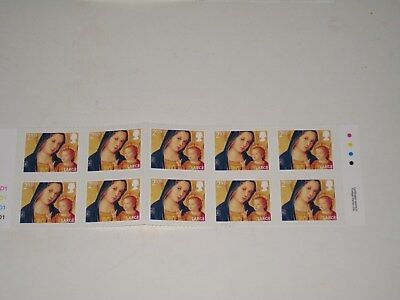 MINT 2013 Christmas Traffic Light & Cylinder Block of 10 2nd Large Stamps SG3544