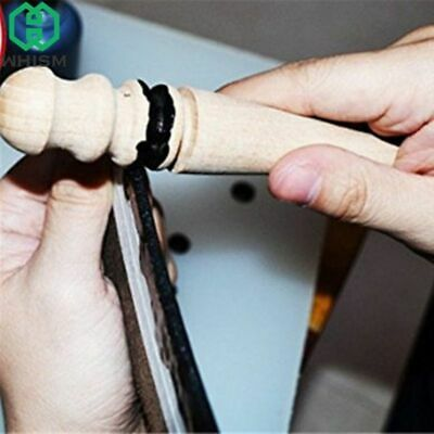 Multi-Size Wood Slicker Leather Edge Burnisher DIY Leathercraft Tools Leather