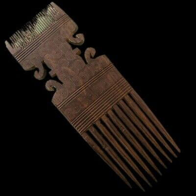 Rare Ancient Large Pre Columbian Double Ended Comb 900 B.C. - 300 B.C. (1)