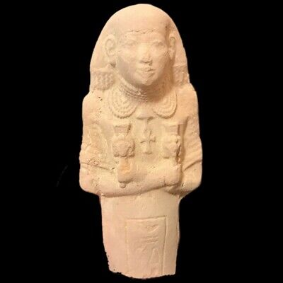 Very Rare Egyptian Hieroglyphic Shabti Fragment, Late Period 664 - 332 Bc (3)