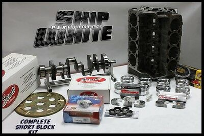 SBC CHEVY 421 DART SHORT BLOCK FORGED +5.5cc DOME TOP 4.155 PISTONS SCAT CRANK
