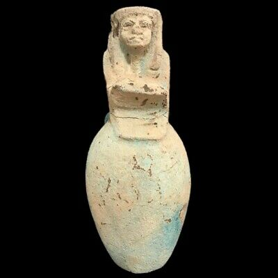 Very Rare Large Ancient Egyptian Storage Jar Vessel Late Period 664 - 332 Bc (-)