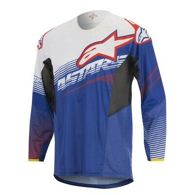 Alpinestar Techstar Factory Blue White Red Motocross MX Jersey Adult XL Xlarge