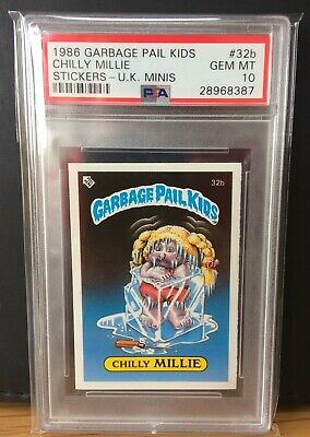 Chilly Millie 32b ~ UK Garbage Pail Kids Series 1 (1985) PSA 10 Gem ~ RARE!