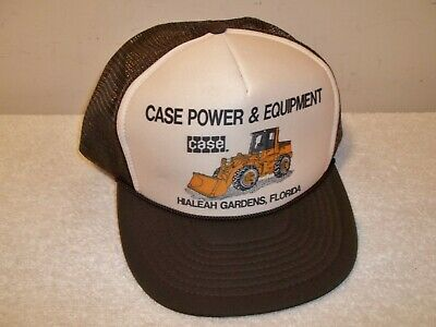 Vtg Unworn CASE POWER FARM EQUIPMENT HIALEAH FLORIDA MESH TRUCKER SNAPBACK HAT