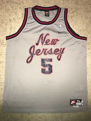 03b39b872ec0 Jason Kidd Men s XL Nike Swingman Throwback Gray New Jersey Nets NBA Jersey