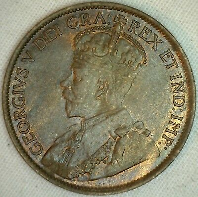 1913 Copper Canadian Large Cent Coin 1-Cent Canada Unc K15