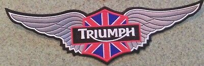 Triumph Motorcycles 12 Inch Wing Patch In  Silver