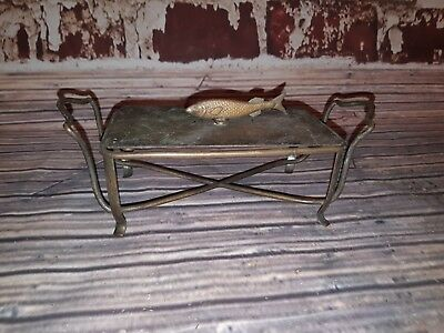 Antique Old Silver Plated Caviar Butter Dish Holder With Lid Display Prop Fish