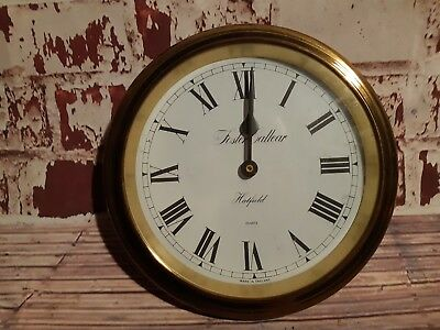 Old Vintage Antique Ships Style Solid Brass Foster Callear England Wall Clock