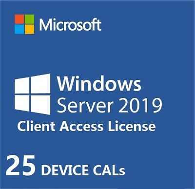 Windows Server 2019 CLIENT ACCESS LICENSES ( CALs ) 25 DEVICE CALs ONLY - NO OS