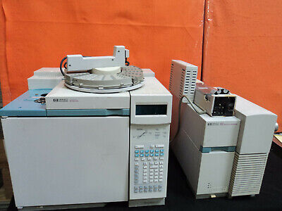 Agilent HP 6890 Series GC with 5973 MSD, 7683 Autosampler, Roughing Pump & PC