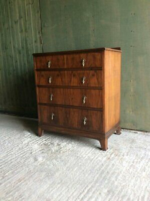 Art Deco 1930's Walnut four drawer chest of drawers