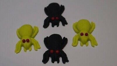 12 Halloween Spooky Spiders Cupcake Cake Toppers Decorations