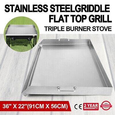 "36"" x 22"" Stainless Steel Griddle Flat Top Grill Kitchen Griddle BBQ Stove"