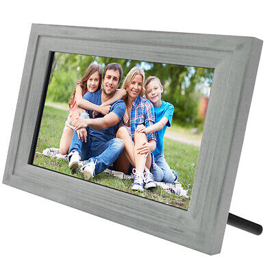 """Life Made Digital Touch-Screen 13"""" Picture Frame with Wi-Fi - Silver Wood - SLRB"""