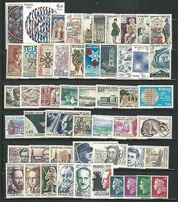 France: small lot of 50 diff. mint NH some values, light hinged, ... FR166