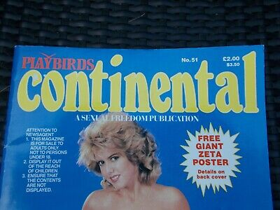 Vintage PlayBirds Continental Magazine Issue No. 51