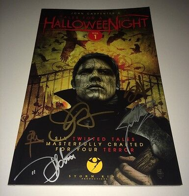 John Carpenter + 6 Hand Signed TALES FOR A HALLOWEEN NIGHT Book PROOF