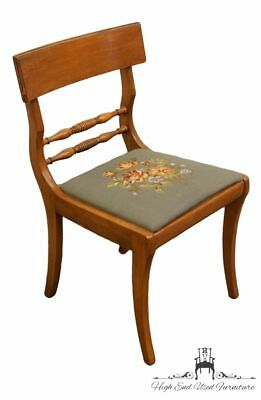 Antique Duncan Phyfe Dining Side Chair with Needlepoint Cushion