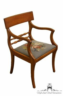Antique Duncan Phyfe Dining Arm Chair with Needlepoint Cushion