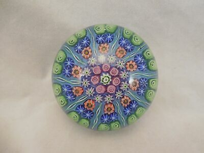 Perthshire? Art Glass Paperweight Patterned Millifiori on Coloreed Ground