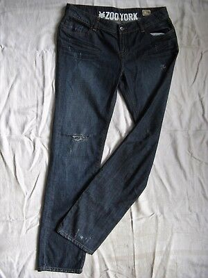 ZOO YORK Damen Blue Jeans Denim W30/L32 extra low waist slim fit skinny leg