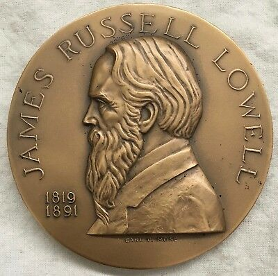 James Russell Lowell Hall of Fame for Great Americans Medal, 1970 by Carl Mose