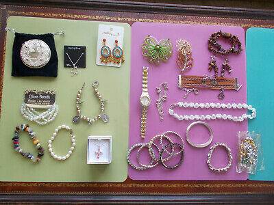 Pet Rescue Quality Jewelry Lot 28 Pcs Some NWT Sterling RS Semi Precious Modern