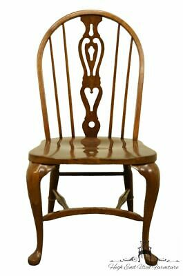 PENNSYLVANIA HOUSE Solid Oak Rustic Traditional Spindle-Back Dining Side Chair