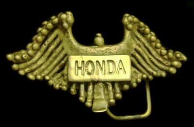 PD10155 VINTAGE 1960s ***HONDA*** MOTORCYCLES CUSTOM MADE SOLID BRASS BUCKLE