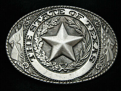 Pd09133 Vintage 1981 **The State Of Texas** State Seal Commemorative Belt Buckle